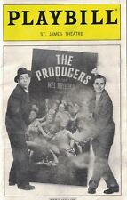 Playbill St. James Theatre Dec 2003 The Producers Brad Oscar Roger Bart