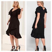 Anna Scholz @ Kaleidoscope Plus Size 26 Black Jersey DRESS Occasion £124 Party