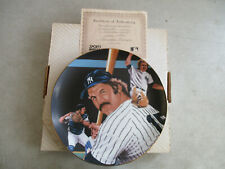 VINTAGE 1988 SPORTS IMPRESSIONS NEW YORK YANKEES THURMAN MUNSON COLLECTOR PLATE