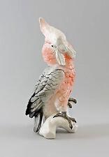 9997860 PORCELLANA PERSONAGGIO ENS ROSE petto cacatua pappagallo uccelli H 29 cm