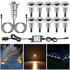 10pcs/Set 26mm 12V LED Deck Step Stair Lights Outdoor Path Garden Plinth Lamp