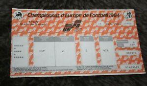 rare Ticket )) DANEMARK V ESPAGNE ESPANA - Lyon - 1/2 finale EURO 1984 France