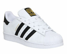 695fd6b30560 Adidas Superstar Unisex Men s Women s WHITE BLACK FOUNDATION Trainers Shoes