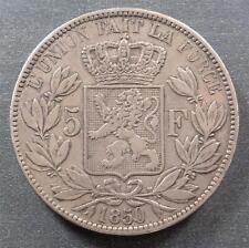 Belgium, Silver 5 Francs, 1850, toned