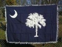 South Carolina State Flag 4ft x 6ft Cotton Woven Throw Blanket Super Comfy