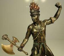 ORISHA CHANGO SHANG God of FIRE Yoruba African Statue Sculpture Bronze Finish