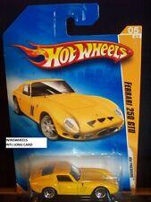 HOT WHEELS 2009 FE #5 -6 FERRARI 250 GTO YELLO LACE INTL LONG