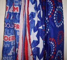 NEW ladies Fashion SCARF 60x12 soft sheer USA Patriotic 4th of July 3 styles