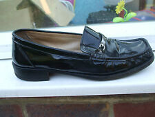 Gorgeous Black Patent Leather Loafers- BALLY- Size 6.5