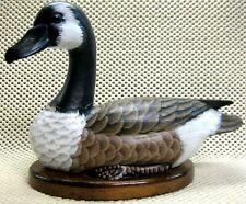 "o'o'o . Duck . . Wood Base Mounted . . 11"" Long x 6.5"" Tall"