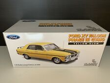 1 18 Classic Ford XY GT-HO Phase 3 Yellow Glow, As New. Sent Fully Insured!