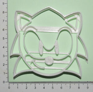Sonic Head Cookie or fondant  Cutter 3d printed