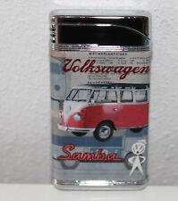 VW Samba Bulli Retro Gas Feuerzeug im Geschenketui Vintage Lighter NEU (Red)