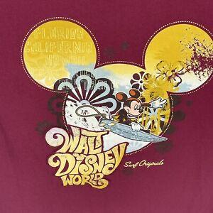 Walt Disney World Women's Mickey Mouse Surf Originals T Shirt XXL