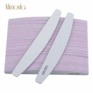 Professional High Quality Nail Files Pack of 1/2/5/10/20 (100-180 Grit) Manicure