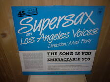 "SUPERSAX AND LOS ANGELES VOICES the song is you 12""  MAXI 45T PROMO"