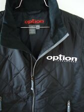 NFA OPTION Vest Mens Large Thermal Quilted Black Embroidered Logo Snowboard