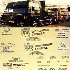 Mercedes Renntransporter AMG UPS Motorsport DTM 1:87