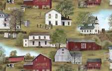 HEADIN' HOME COUNTRYSIDE BARNS FARMHOUSES FABRIC