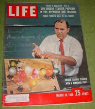 LIFE  MARCH 31 1958 JOHNNY MATHIS STAMFORD CONNECTICUT VANGUARD ELMER WEXLER