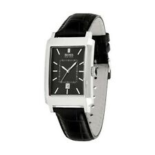 **NEW** MENS HUGO BOSS BLACK LEATHER STRAP CLASSIC  WATCH - 1512225 - RRP £159