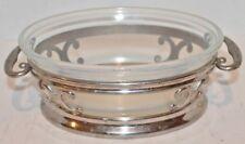 "VTG Fry Ovenglass Glass Baking Dish-Metal Stand- 1932-8 -patent 1919-8 3/8"" Long"