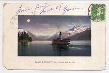 lac léman au clair de lune