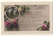 Vintage Postcard - My Heart's Garden (Rotary Photo) - Unposted 2250