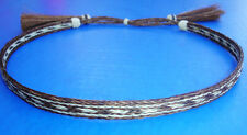 "Western Cowboy/Cowgirl HAT BAND Woven 5 Strand Horsehair With Tassels 1/2"" Wide"
