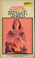 Andre Norton  SPELL OF THE WITCH WORLD   DAW BOOKS UY1179   1972