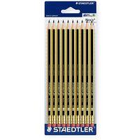 Staedtler Noris 122 HB Pencil with Eraser - Pack of 10
