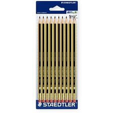 Staedtler Noris 122 HB Pencil with Eraser - Pack of 10