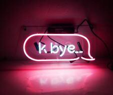 "New K-Bye Pink Bar Beer Pub Acrylic Neon Light Sign 14"""