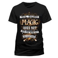 Official Harry Potter Magic Wands Hogwarts T Shirt Black NEW Medium