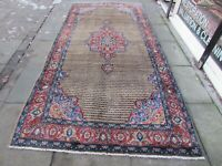 Vintage Hand Made Traditional Rug Oriental Rug Wool Brown Large Rug 333x161cm