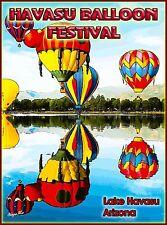 Lake Havasu Balloon Festival  Arizona U.S. Travel Advertisement Poster