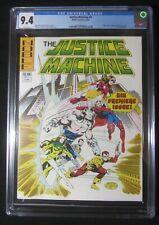 Justice Machine #1 CGC 9.4...(Rare/pop 2)...John Byrne & Michael Gustovich cov/a