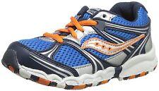 NEW Saucony Catalyst LTT Leather Mesh Running Shoe Toddler 5.5 Blue Navy Orange