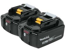 2 Genuine Makita BL1850B 18V LXT Lithium-Ion Batteries 5.0Ah BL1850B-2