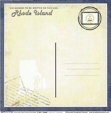 Sc - Rhode Island Postcard Scrapbooking Paper - 1 sheet - Vintage 36207