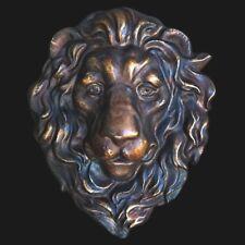 Lion Head Sculpture wall plaque in Antique Bronze Finish
