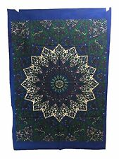 Indian Tapestry Wall Hanging Mandala Poster Taille Classic Blue Star tapisseries