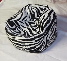 "BARBIE OR BABY DOLL bean bag beanbag chair fits most baby dollsto 15""  ZEBRA"