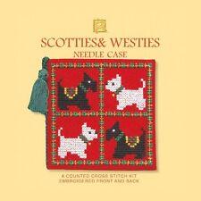 Scotties & Westies Dogs Needle Case Cross Stitch Kit - Textile Heritage