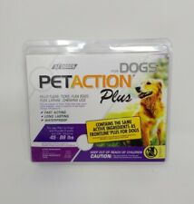 Pet Action PetAction Plus Flea & Tick Drops for Large dogs 45 - 88 lbs. (NEW)