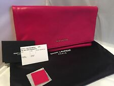 New With Tags! Saint Laurent Letters Holdover Clutch