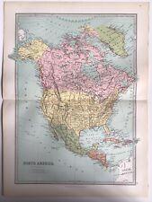 More details for north america, central america, 1874 original antique map, bartholomew, philip