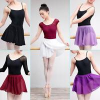 Chiffon Wrap Ballet Skirt Lyrical Transparent Girls Women Lady Kids Dance Skirt