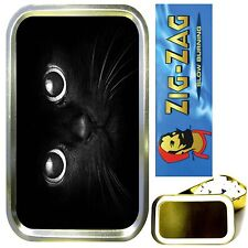 CATS EYES SMOKING SET, GOLD 1oz TOBACCO TIN, ROLLING PAPERS & FILTER TIPS