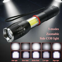 Portable T6 LED 4000LM Zoomable Emergency Flashlight Torch W/Magnet For Hiking